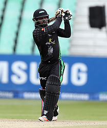 Khaya Zondo of Hollywoodbets Dolphins during the T20 Challenge cricket match between the Dolphins and the Cobras at the Kingsmead stadium in Durban, KwaZulu Natal, South Africa on the 4th December 2016<br /> <br /> Photo by:   Steve Haag / Real Time Images