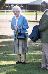 © Licensed to London News Pictures. 09/05/2018. Windsor, UK. Queen Elizabeth II arrives at the 75th Royal Windsor Horse Show . The five day event takes place in the grounds of Windsor Castle. The Queen and the Duke of Edinburgh usually attend. Photo credit: Peter Macdiarmid/LNP