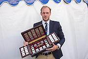 Henley on Thames. United Kingdom. Prize Giving,  Diamond  Challenge Sculls BEL M1X Hannes OBRENO. Sunday 03.07.2016. Henley Royal Regatta, Henley Reach.   [Mandatory Credit Intersport Images]