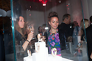 MELISSA MILLS; SASKIA BOXFORD, Cartier Tank Anglaise launch. Kensington Palace Orangery, London.  19 April 2012.