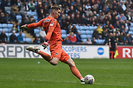 Bristol Rovers goalkeeper (on loan from Brentford) Jack Bonham (13) re starts play during the EFL Sky Bet League 1 match between Coventry City and Bristol Rovers at the Ricoh Arena, Coventry, England on 7 April 2019.
