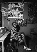 Fela Kuti Wife and Dancer at the Shrine - Lagos