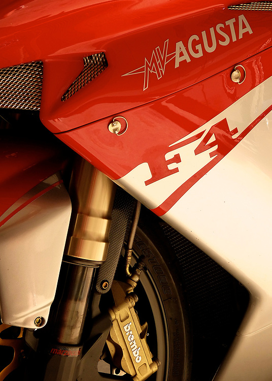 Some of the most beautiful motorcycles in the world are produced by legendary Italian manufacture MV Agusta.  While prepping my F4 1000-R for sale, I snapped this image before it was shipped to its new owner.
