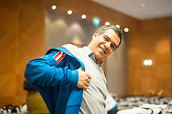 28.01.2014,  Marriott, Wien, AUT, Sochi 2014, Einkleidung OeOC, im Bild Manny Viveiros (Headcoach, Eishockey, AUT) // Manny Viveiros (Headcoach, Icehockey, AUT)<br />  during the outfitting of the Austrian National Olympic Committee for Sochi 2014 at the  Marriott in Vienna, Austria on 2014/01/28. EXPA Pictures © 2014, PhotoCredit: EXPA/ JFK