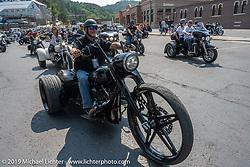 Legends Ride leaves Deadwood during the Sturgis Motorcycle Rally. SD, USA. Monday, August 9, 2021. Photography ©2021 Michael Lichter.