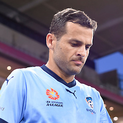 BRISBANE, AUSTRALIA - FEBRUARY 3: Bobo of Sydney walks out during the round 18 Hyundai A-League match between the Brisbane Roar and Sydney FC at Suncorp Stadium on February 3, 2017 in Brisbane, Australia. (Photo by Patrick Kearney/Brisbane Roar)