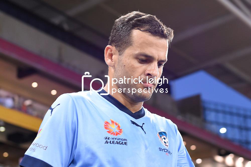 BRISBANE, AUSTRALIA - FEBRUARY 3: Bobo of Sydney walks out during the round 18 Hyundai A-League match between the Brisbane Roar and Sydney FC at Suncorp Stadium on February 3, 2017 in Brisbane, Australia. (Photo by Patrick Kearney/Brisbane Roar)