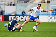 Marco Zanon (Italy) tackled by Darcy Graham (Scotland) during the Autumn Nations Cup, rugby union Test match between Italy and Scotland on November 14, 2020 at the Artemio Franchi stadium in Florence, Italy - Photo Ettore Griffoni / LM / ProSportsImages / DPPI