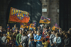 Parade To Celebrate FC Barcelona's 8th Double Win - 30 Apr 2018