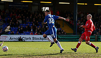 Photo: Paul Thomas.<br /> Stockport County v Swindon Town. Coca Cola League 2. 03/03/2007.<br /> <br /> Anthony Elding (32) of Stockport scores.