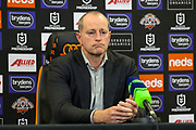 Michael Maguire, coach of the Tigers. Wests Tigers v Vodafone Warriors. NRL Rugby League, Sydney Cricket Ground, Sydney, NSW, Australia. 31 July 2020. Copyright Photo: David Neilson / www.photosport.nz