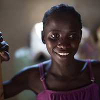 Portrait of a young woman in Butiama district, northern Tanzania