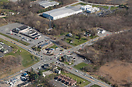 Montgomery, New York - An aerial view of Scott's Corners, the intersection of route 208 and 17K on April 20, 2016.