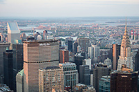 New York City skyline from the Empire State Building observation deck.