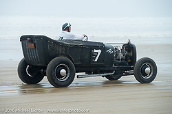 Quint Meland in his 1927 T Tub at TROG West - The Race of Gentlemen. Pismo Beach, CA, USA. Saturday October 15, 2016. Photography ©2016 Michael Lichter.