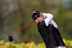 March 2, 2019 - Singapore - Hyo Joo Kim of South Korea tees off on the 3rd hole during the third round of the Women's World Championship at the Tanjong Course, Sentosa Golf Club. (Credit Image: © Paul Miller/ZUMA Wire)