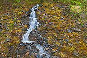 Waterfall along the highway, Dempster HIghway, Yukon, Canada