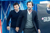 CD Leganes' coach Asier Garitano (l) and RCD Espanyol's coach Quique Sanchez Flores during La Liga match. April 16,2017. (ALTERPHOTOS/Acero)