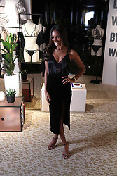 VictoriaÕs Secret Angel Jasmine Tookes at the brandÕs New Bond Street store in London to celebrate them introducing the LIVY lingerie brand.