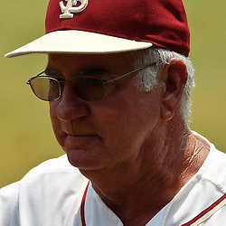 June 06, 2011; Tallahassee, FL, USA; Florida State Seminoles head coach Mike Martin following a win over the Alabama Crimson Tide in the Tallahassee regional of the 2011 NCAA baseball tournament as play resumed following the suspension of play due to severe weather last night at Dick Howser Stadium. Florida State defeated Alabama 11-1 to advance to a super regional.  Mandatory Credit: Derick E. Hingle