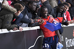 September 30, 2018 - Lille, France - 19 NICOLAS PEPE (LIL) - SUPPORTERS - JOIE (Credit Image: © Panoramic via ZUMA Press)