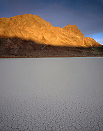 "CADDV_025 - Sunrise on Ubehebe Peak above dry lakebed or playa called ""Racetrack"", Racetrack Valley, Death Valley National Park, California, USA"
