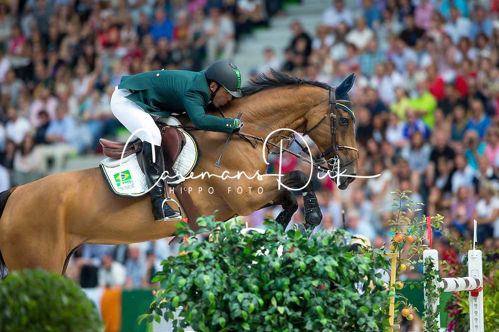 Alvarez Doda De Miranda, (BRA), AD Rahmannshof's Bogeno - World Champions, - Second Round Team Competition - Alltech FEI World Equestrian Games™ 2014 - Normandy, France.<br /> © Hippo Foto Team - Leanjo De Koster<br /> 25/06/14