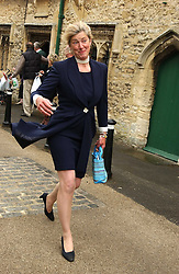 TIGGY LEGGE-BOURKE at the wedding of Hugh van Cutsem to Rose Astor in Burford, Oxfordshire on 4th June 2005.<br />