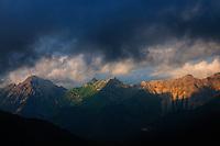view on the Landscape in the area around the Pfälzer Hütte, Liechtenstein