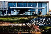 Belo Horizonte_MG, Brasil...Museu de Arte da Pampulha, o primeiro projeto do arquiteto Oscar Niemeyer em Belo Horizonte, Minas Gerais...The Pampulha Art Museun, it was the first project of architect Oscar Niemeyer in Belo Horizonte, Minas Gerais...Foto: LEO DRUMOND / NITRO