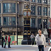 A caracteristic clock in a central street in London.