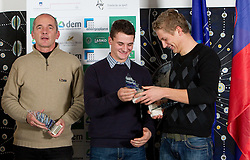 Dusan Jurse, Jure Grace and Grega Domanjko during the Slovenia's Rower of the year award ceremony by Rowing Federation of Slovenia, on December 17, 2010 in Hotel Golf, Bled, Slovenia.   (Photo By Vid Ponikvar / Sportida.com)