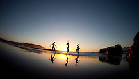 Lucie Beyer, Shauna Leigh & Minhee Cha at Baker Beach, San Francisco