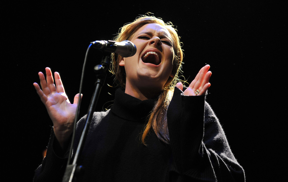 """Adele Live  The Tabernacle, London 24th Jan <br /> Adele plays an intimate show in support of the release of her second album """"21"""".<br /> Pix Dave Nelson"""
