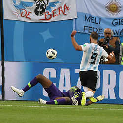 June 26, 2018 - St. Petersburg, Russia - June 26, 2018, Russia, St. Petersburg, FIFA World Cup 2018, First round, Group D, Third round. Football match of Nigeria - Argentina at the stadium of St. Petersburg. Player of the national team Gonzalo Higuain (Credit Image: © Russian Look via ZUMA Wire)