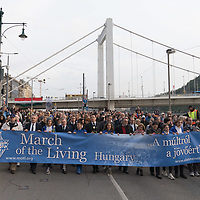 Thousands participate the March of the Living commemorating the events of the Holocaust in downtown Budapest, Hungary on April 14, 2019. ATTILA VOLGYI