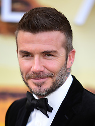 David Beckham attending the global premiere of Netflix's Our Planet, held at the Natural History Museum, London.