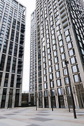High rise influence of federal style architecture which is newly opened in the area near to the Shell Centre on Waterloo on 5th March 2021 in London, England, United Kingdom.