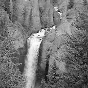 Waterfalls - Yellowstone National Park - Black & White