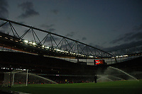 Photo: Tony Oudot.<br /> Arsenal v Sparta Prague. UEFA Champions League Qualifying. 29/08/2007.<br /> The pitch is sprayed before the game