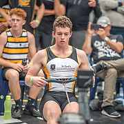 Adam Jefferis MALE HEAVYWEIGHT U19 1K Race #15  12:45pm<br /> <br /> www.rowingcelebration.com Competing on Concept 2 ergometers at the 2018 NZ Indoor Rowing Championships. Avanti Drome, Cambridge,  Saturday 24 November 2018 © Copyright photo Steve McArthur / @RowingCelebration