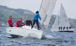 Sailing - SCOTLAND  - 27th May 2018<br /> <br /> 3rd days racing the Scottish Series 2018, organised by the  Clyde Cruising Club, with racing on Loch Fyne from 25th-28th May 2018<br /> <br /> GBR7105, Pocket Battleship, Robin Angus, Wormit Boating Club, Hunter 707 OD<br /> <br /> Credit : Marc Turner<br /> <br /> Event is supported by Helly Hansen, Luddon, Silvers Marine, Tunnocks, Hempel and Argyll & Bute Council along with Bowmore, The Botanist and The Botanist