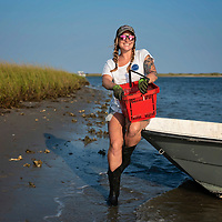 10/02/19 -<br /> <br /> FEATURE SHELLUM – Feature on Ana Shellem, who runs boutique shellfish company Shell'em Seafood, with locally harvested shellfish sold directly to 25 different restaurants in Eastern North Carolina. She and her husband live on a boat, harvest the shellfish, deliver the shipments and is working on her first cookbook. Info on her background, how she got into this field, goals, etc.<br /> <br /> http://www.shellemseafood.com/<br /> <br /> Photo by Michael Cline Spencer