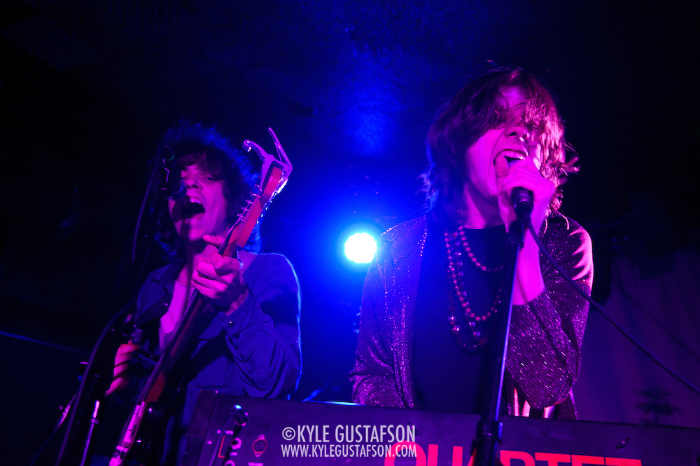 WASHINGTON, DC - February 27th  2013 - Jonathan Rado and Sam France of buzzing indie rock duo Foxygen perform at the Rock N Roll Hotel in Washington, D.C. The band's sophomore album,  We Are the 21st Century Ambassadors of Peace & Magic, has garnered a significant amount of buzz after being released in late 2012. (Photo by Kyle Gustafson/For The Washington Post)