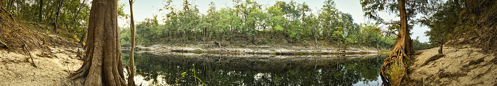 180 degree view of early morning on the Suwannee River in North Florida on October 6, 2008. What a first sight as the sun came up that morning!!!