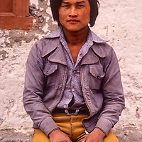 A young Thakali man in Jomsom, Nepal