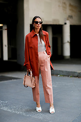 Street style, Alice Barbier (jaimetoutcheztoi) arriving at Acne Spring-Summer 2019 menswear show held at Bercy Popb, in Paris, France, on June 20th, 2018. Photo by Marie-Paola Bertrand-Hillion/ABACAPRESS.COM