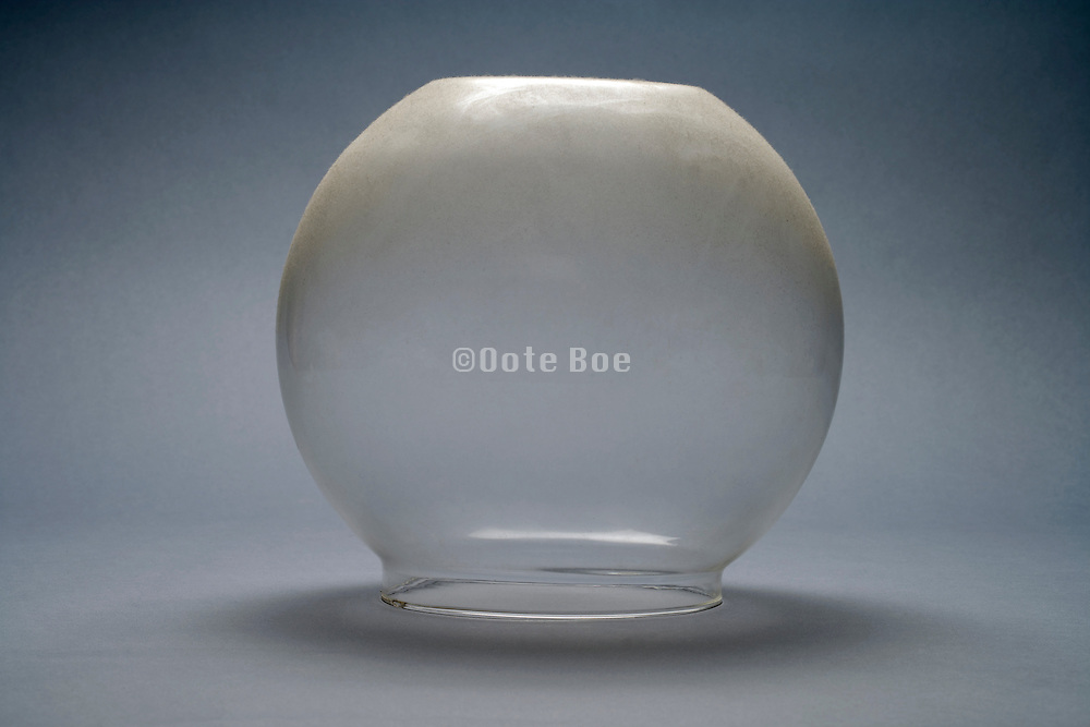 glass boll covered with dust