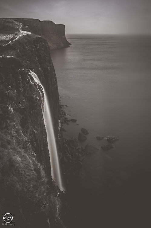 """{Mealt Falls : Isle of Skye : 2015} What do you think about when you visit historic places? When you walk through castles that royalty stepped foot in hundreds of years ago. When you stroll over bridges that sustained life in tiny towns in the 1700's. When you are viewing a waterfall on the coast of an island that took over 400 million years to form in it's current state. I ask this because I see people walk through areas I photograph; areas I sit around and enjoy, as well as capture. I see them walk up, snap a photo, and leave. I always wonder if in that split second they realize the magnitude of the images they have just taken. The image that could have taken hundreds if not millions of years to come about. If they think about what people so many years ago did and thought when these """"places"""" were originally discovered or came to be. How different and somewhat more rewarding life is now. Easier, if you will. I just think about how much work, history, science, time it has taken for me to come to this point. To this moment where I am photographing something that is not only changing, but has changed the life and world around us several times over.<br /> Many moons from now, when our time has come and gone, there will be others. And these photographs of these places will be different. Because that's how things are, they change."""