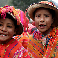 South America, Peru, Willoq. Boys of Willoq Community.